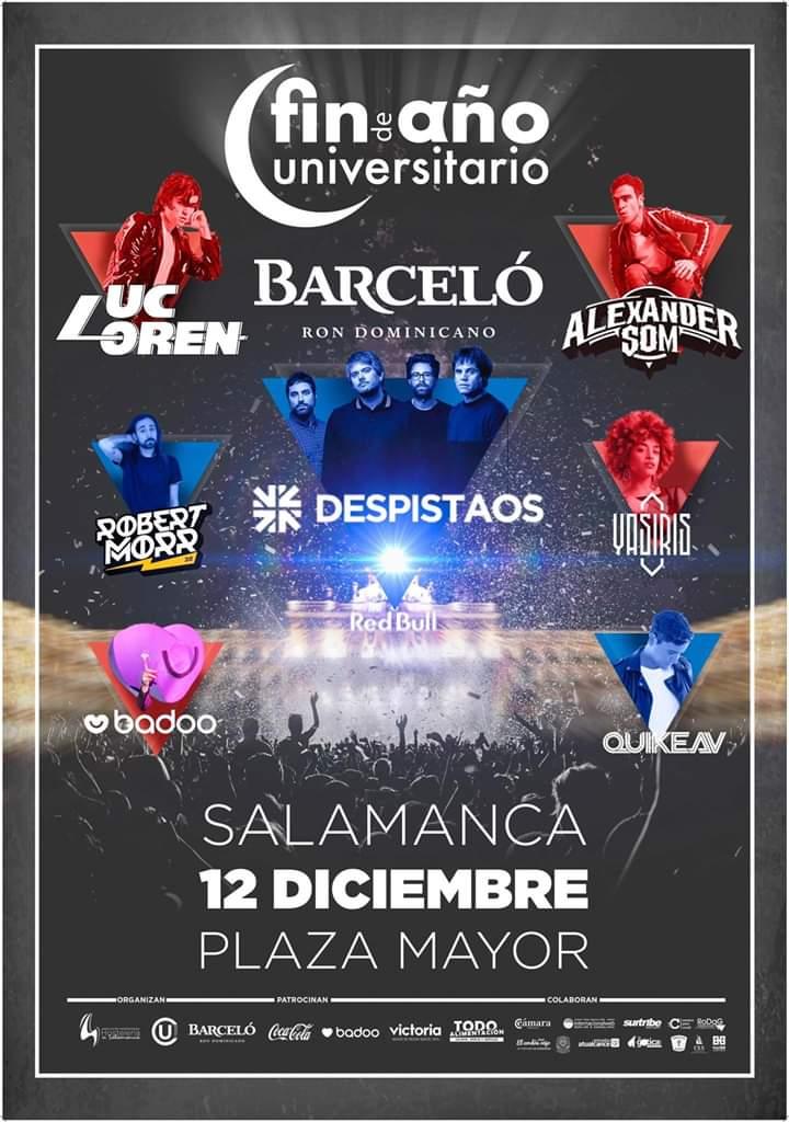 Cartel Oficial Nochevieja Universitaria de Salamanca 2019