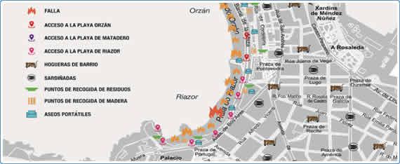 Plano de San Juan 2015 A Coruña